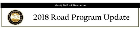 2018 Road Program Update